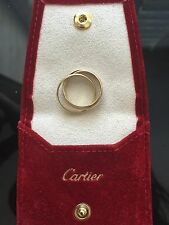 Cartier Tri-colored Trinity Ring, Size 53/6.5, excellent condition/retails $1580