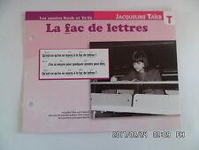 CARTE FICHE PLAISIR DE CHANTER JACQUELINE TAIEB LA FAC DE LETTRES