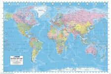 Politico World Map Poster-aggiornata 2013-NEW WORLD MAP POSTER