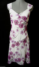 SPEECHLESS Chiffon Formal Dress 3 Purple White floral Vneck Empire waist A-line