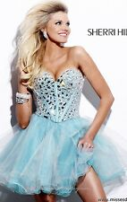 Sherri Hill Blue 1403 Dress Size 8
