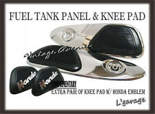 [LG772] HONDA SS50 FUEL GAS TANK SIDE CHROME PANEL COVER + KNEE PAD RUBBER [V]