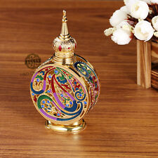 Vintage Crystal Glass Metal Perfume Bottle Fragrance Empty Lady Gifts Decor 18ml