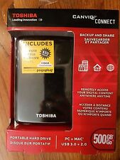 NEW Toshiba Canvio Connect 500GB Portable External HDD Hard Drive
