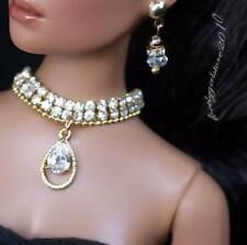 """Rhinestone Zircon Necklace and Earring Jewelry Set for 16"""" Tonner Tyler 063B"""