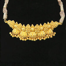 NYJEWEL 22k Solid Gold New Indian Style Bollywood Ethnic Jhumka Necklace