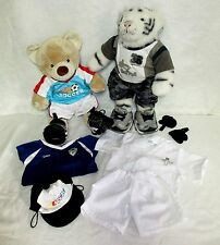 Build A Bear Siberian Tiger & Friend Karate Skechers Soccer & Skater Outfits