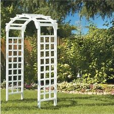 Garden Archway White Wood Arbor Backyard Patio Arch Wedding Landscape Decor NEW