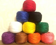 Anchor pearl Cotton thread cross stitch embroidery ball solid fast colors size 8
