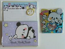 Kamio Japan Mochi Panda Kawaii Letter Set Sticker sack flakes stationery lot 2