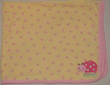 Carters Just One Year Yellow & Pink Ladybug Baby Blanket Mommys Sweetie