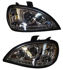 FREIGHTLINER  COLUMBIA  1996-2013 PROJECTOR CHROME HEADLIGHT SET PAIR WITH LED