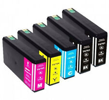 5 Pk Ink Cartridges 676XL for Epson 676XL WorkForce WP-4520 WP-4530 WP-4533