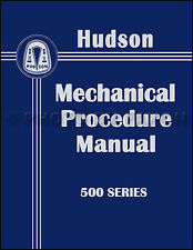 1950 Hudson Shop Manual 50 Pacemaker Commodore Deluxe Super Repair Service Book