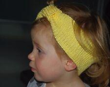 Bébé fille bandeau tricoté à la main taille unique