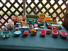 Fisher Price Loving Family Mixed Lot of Furniture and Other Brands & People