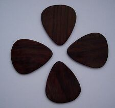 True Custom Shop® 4 PACK INDIAN  ROSEWOOD GUITAR PICKS PIC GREAT NATURAL SOUND