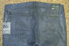 JOE'S THE SKINNY Ankle JEANS 29X28 NWT$195 Stretch! Midnight! Coated Snake Print