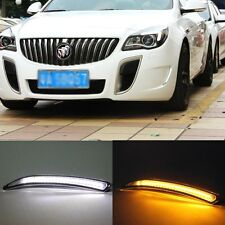 2x White LED DRL Daytime Fog Light Run signal lamp For Buick Regal GS 2012-2014