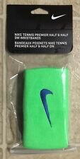 NEW NIKE TENNIS UNISEX PREMIER HALF & HALF DOUBLEWIDE WRISTBANDS ARMBANDS 2 PACK