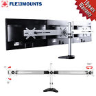 Triple LCD Arm Monitor Desk Mount Stand Heavy Duty upto 27