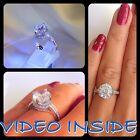 Unique 4.8 Carat Fine Engagement Diamond Ring Platinum Finish 925. Fine Silver