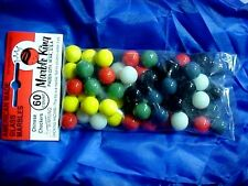 "BAG SET OF 60 ""MARBLE KING"" CHINESE CHECKERS 9/16"" GAME MARBLES $8.99 POSTPAID!!"
