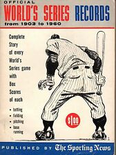 1961 Official World's Series Records from 1903 to 1960 by The Sporting News