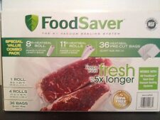New Food Saver Vacuum Sealer Sealing Bags & Rolls Combo Pack BPA Free
