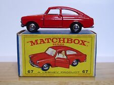 Matchbox Lesney No.67b Volkswagen 1600TL In Type E4 Series NEW MODEL Box (MINT)