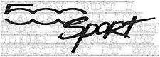 COPPIA FIAT 500 Sport Vinile Decalcomanie Grafiche a colori scelta 15x5cm ogni non adesivi