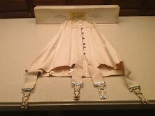 Ladies Corset Antique Lace Justrite Garter Straps W/ Original Box Early 1900's