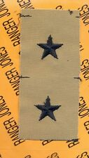 US ARMY Brigadier General BG 0-7 Desert DCU rank patch set