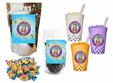 10+ Drinks Bubble Gum Boba Tea Kit: Tea Powder, Tapioca Pearls & Straws
