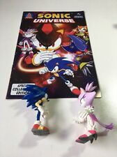 Blaze and Sonic Action Figure Set With Sonic Universe Issue # 1 special edition