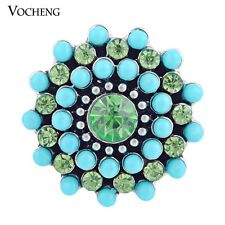 Vocheng Snap Interchangeable Jewelry 18mm Crystal Button Vn-970