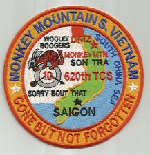 USAF BASE PATCH, MONKEY MOUNTAIN SOUTH VIETNAM, GONE BUT NOT FORGOTTEN    Y