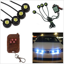 4 Pcs LED Super White Grille Light For Car SUV Off-Road Emergency Warning Strobe