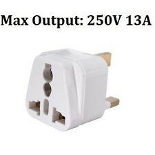 3 PIN PLUG TRAVEL ADAPTOR Universal USA EU CHINA ASIA AUSTRALIA to UK