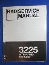 NAD 3225 INTEGRATED AMPLIFIER SERVICE MANUAL ORIGINAL FACTORY ISSUE INT AMP
