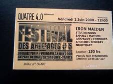 Iron Maiden  ticket Festival Des Artefacts Strasbourg 2/6/00
