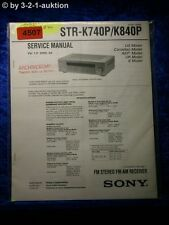 Sony Service Manual STR K740P /K840P FM/AM Receiver (#4507)