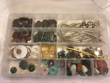 4 Lbs Mixed Lot Bead Agate Shell Jade Stone Silver Tube Sorted Plastic Container