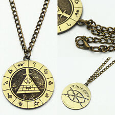Anime Gravity Falls Bill Cipher Boss Necklace Pendant Cosplay Collection Otaku