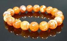 Crab Fire Agate Bracelet Gemstone Orange