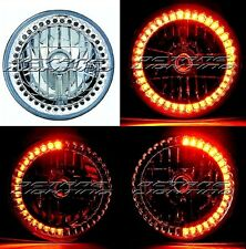 "7"" H6024/6014 Amber LED Angel Eye Ring Halo Headlight Blinker Turn Signal Light"