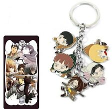 Attack On Titan Shingeki No Kyojin anime Cluster Keychain Key Rings #A