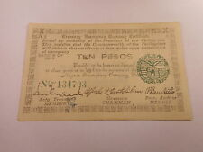 Philippines Emergency WW II Currency 10 Pesos Negros - Very Nice - # 134703