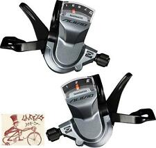 SHIMANO ALIVIO M4000 3 X 9-SPEED GREY BICYCLE RAPID FIRE SHIFTER SET