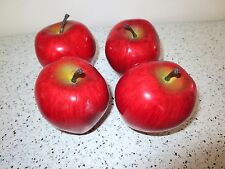 """Play Foods FRUIT Realistic Size Lot of 4 Apples 3""""    Z3"""
